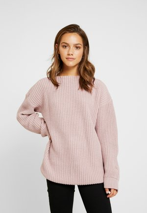 Strikpullover /Striktrøjer - dusky pink
