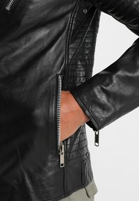 Solid - TRENT - Leather jacket - black - 3