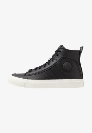 S-ASTICO MID LACE - Korkeavartiset tennarit - black