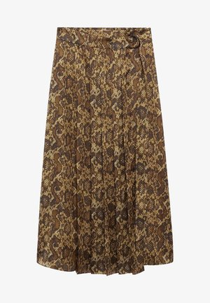 MISS - Pleated skirt - marron