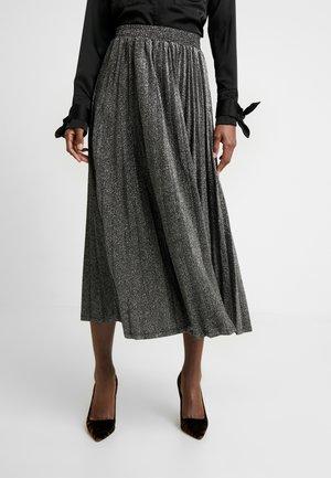 MARION SKIRT - A-line skirt - black/silver