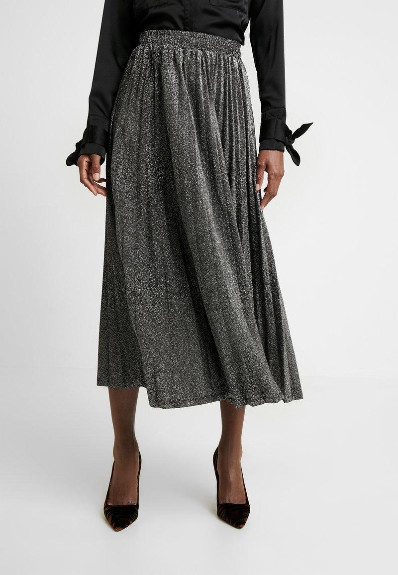 Guess - MARION SKIRT - Áčková sukně - black/silver