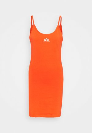 BASIC DRESS SMALL LOGO - Jersey dress - atomic red