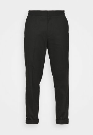 GRY PRONOUNCED RELAXED - Trousers - black