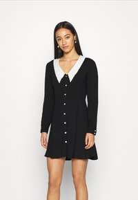 Monki - NOOMI DRESS - Skjortekjole - black - 0