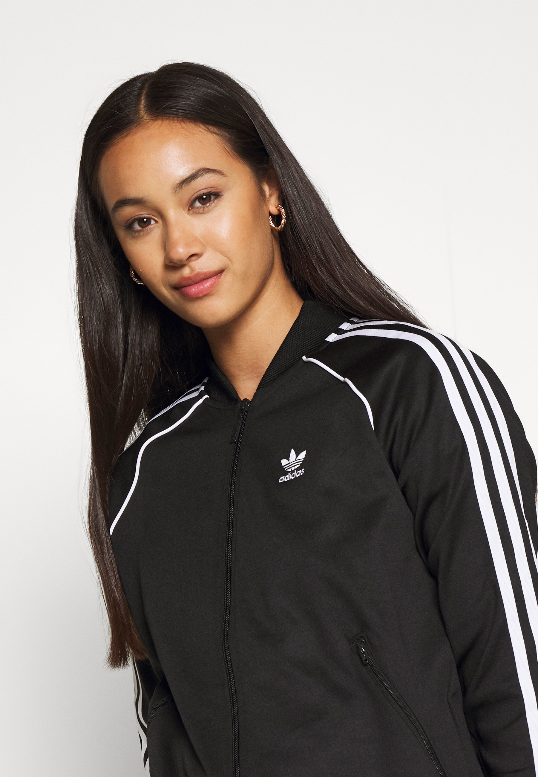 adidas Originals TRACKTOP Trainingsjacke black/white/schwarz