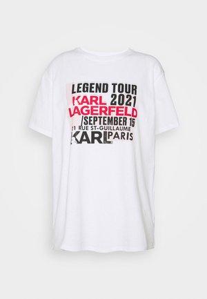 KARL LEGEND TOUR - Print T-shirt - white