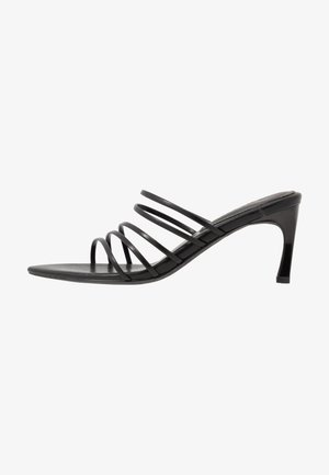 STRAPPY POINTY  - Heeled mules - black