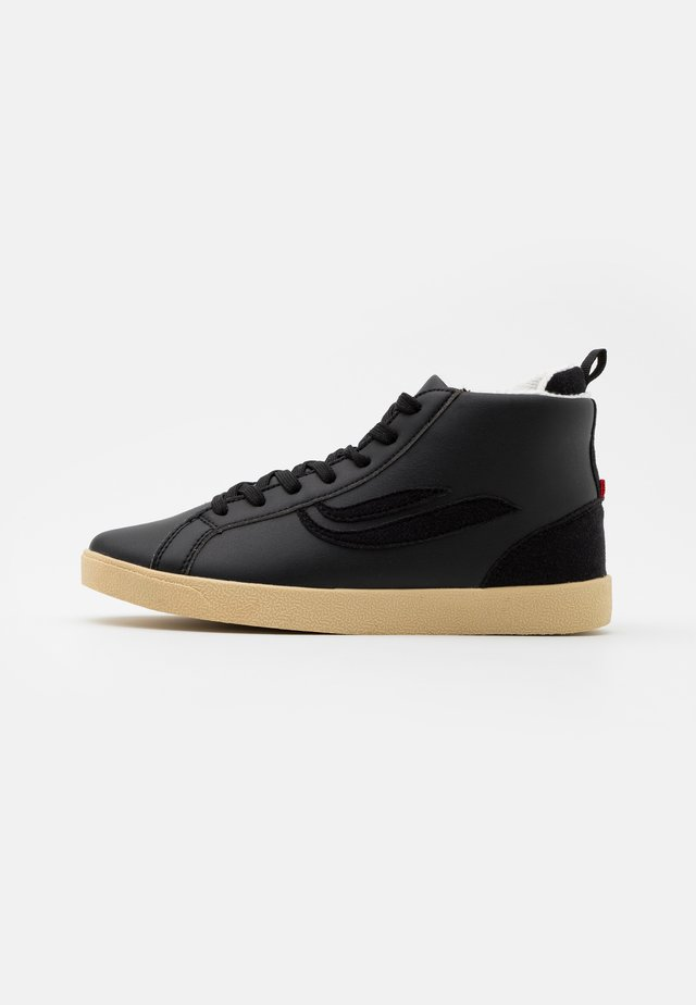 HELÀ MID VEGAN UNISEX - Sneakersy wysokie - black