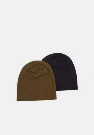 2 PACK - Beanie - dark blue/khaki