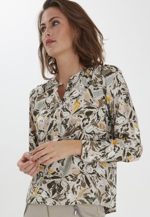 FRPAPRIK - Blouse - green flower mix
