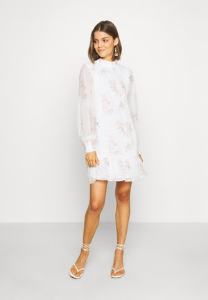 HIGH NECK CROCHET  - Day dress - light white