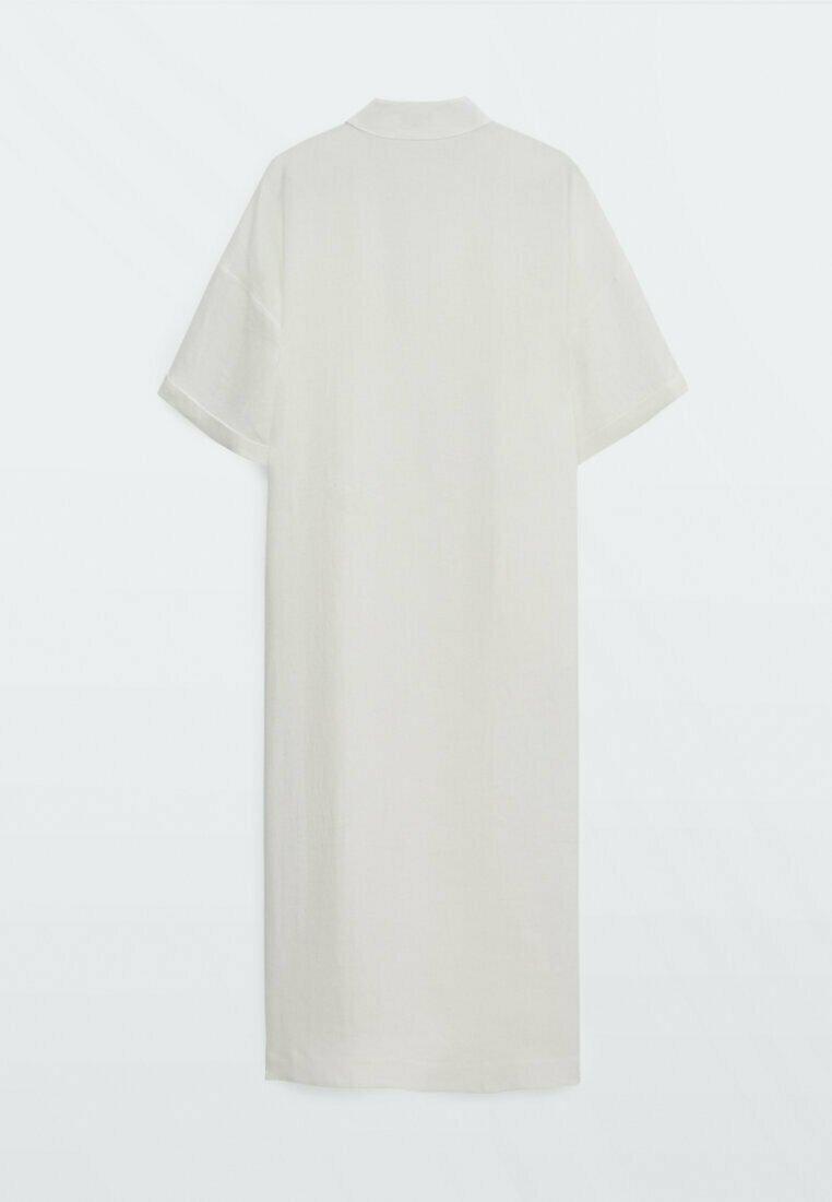 Massimo Dutti - IN WICKELOPTIK - Maxi dress - white