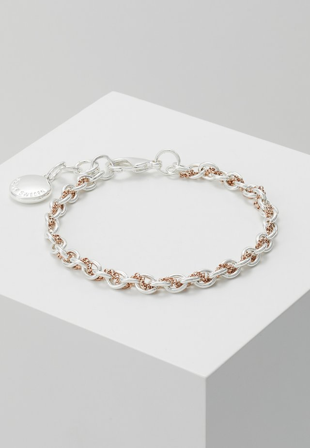 SPIKE SMALL BRACE - Bracciale - silver-coloured/roségold