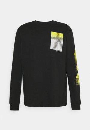 NEW PALM PRINT UNISEX - Long sleeved top - black