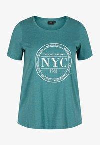 Zizzi - Print T-shirt - pacific mel. - 3