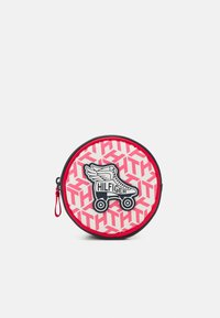 Tommy Hilfiger - GIRLS SEASONAL MONO BUMBAG - Across body bag - deep crimson/cotton candy - 0