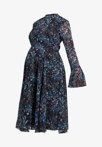 Hope & Ivy Maternity - FLUTE LONG SLEEVE HANDKERCHIEF HEM MIDI DRESS - Day dress - dark blue - 3