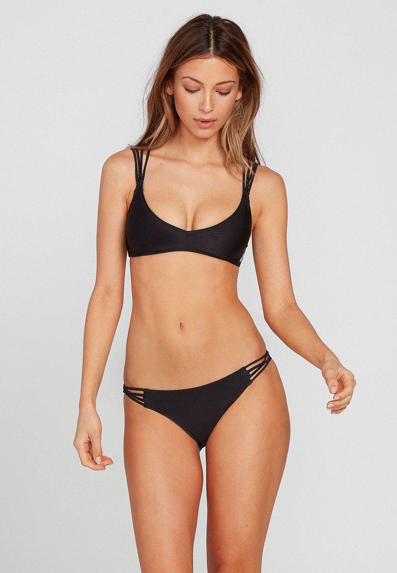 Volcom - SIMPLY SOLID FULL - Bikini bottoms - black