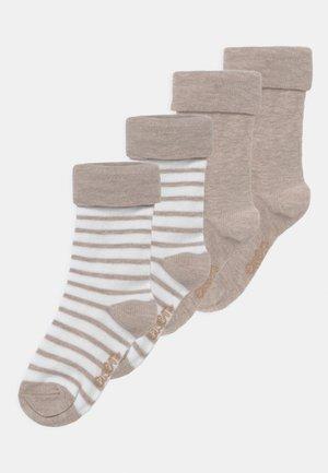 RINGEL 4 PACK UNISEX - Socks - creme/beige