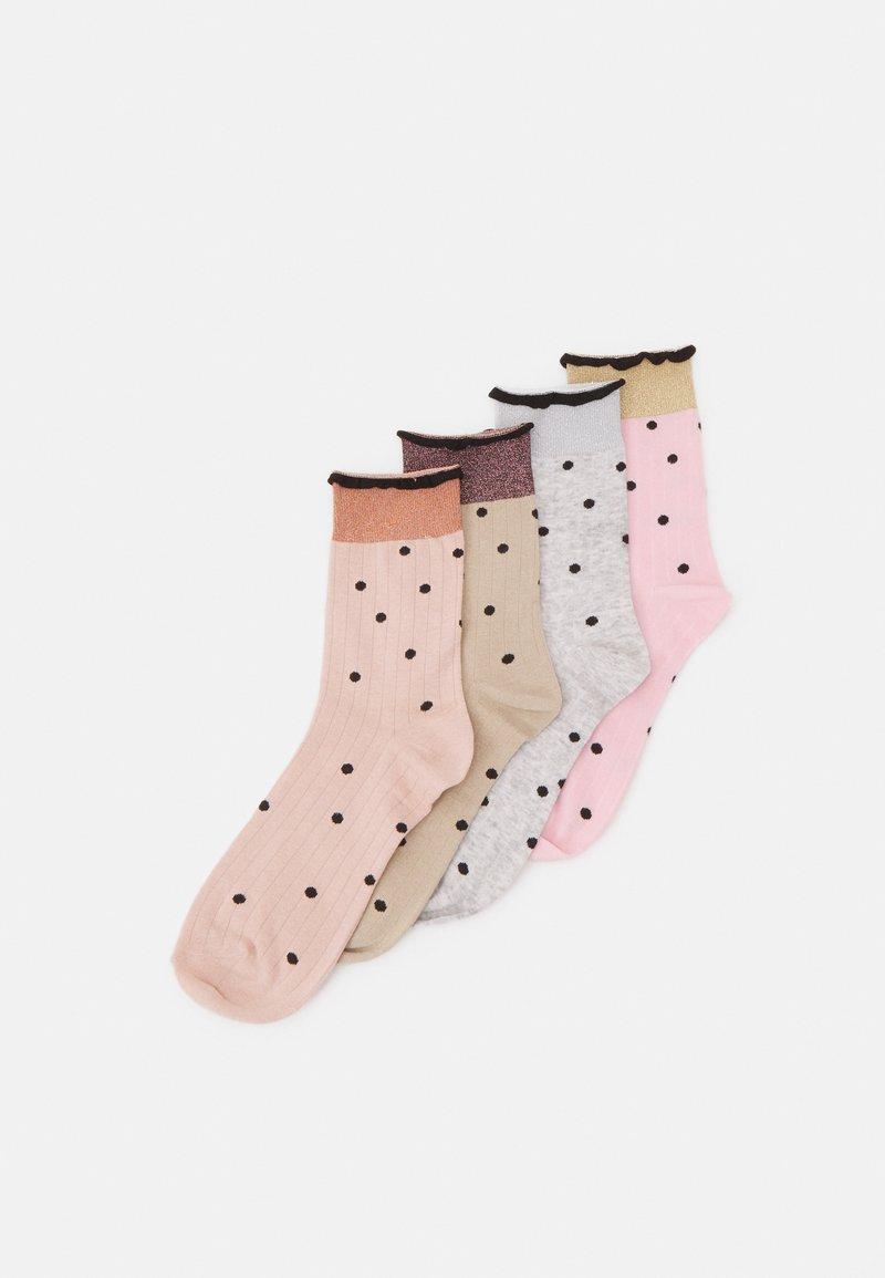 Vero Moda - VMLINE SOCKS 4 PACK - Socks - tobacco brown