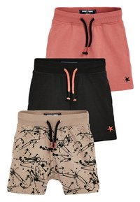 Next - 3 PACK SPLAT SHORTS - Shorts - beige - 0