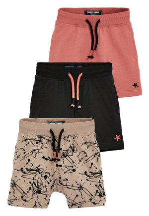 3 PACK SPLAT SHORTS - Kraťasy - beige