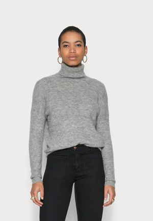 FEMME ROLL NECK - Jumper - mottled dark grey