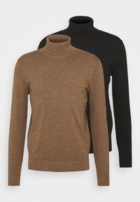 black/mottled brown