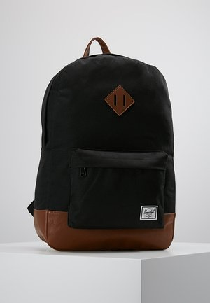 HERITAGE - Zaino - black/tan