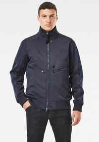G-Star - SOFTSHELL BOMBER - Bomberjacks - mazarine blue/dk black - 0