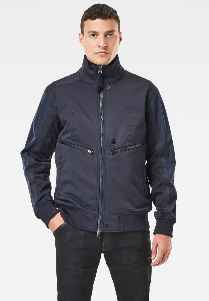G-Star - SOFTSHELL BOMBER - Bomberjacks - mazarine blue/dk black