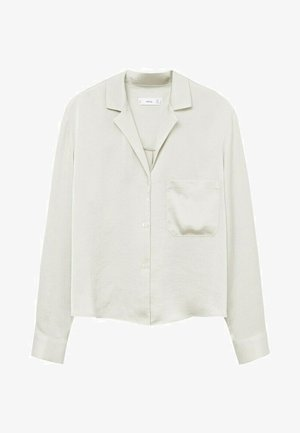 Button-down blouse - gris glacé