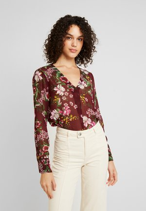 VMISTANBUL V NECK VIP - Blouse - vineyard wine/andrea