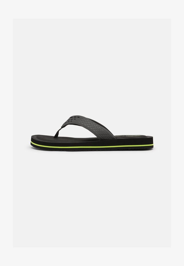 TOCKER - T-bar sandals - charcoal/lime
