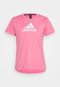 Print T-shirt - rose tone/white