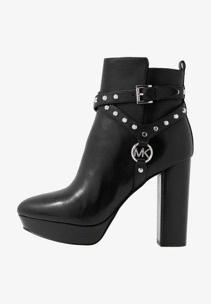 PRESTON PLATFORM - High heeled ankle boots - black