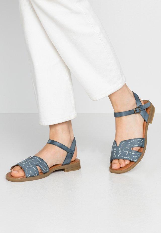 SEDONA - Sandaalit nilkkaremmillä - piel empolvada azul