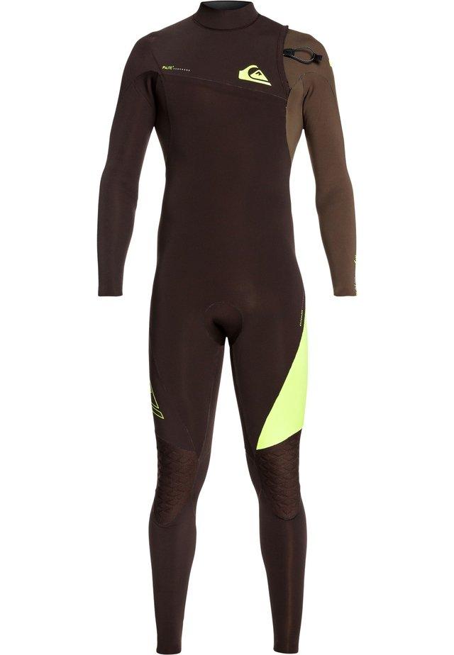 QUIKSILVER™ 4/3MM HIGHLINE LITE - NEOPRENANZUG OHNE REISSVERSCHLU - Wetsuit - velvet brown/ dark beech