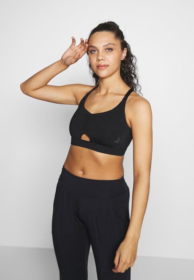 BRA GATHERED - Sports bra - black