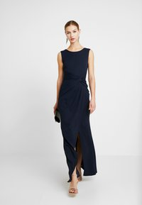 WAL G. - KNOT MAXI DRESS WITH SPLIT - Robe de cocktail - navy - 2