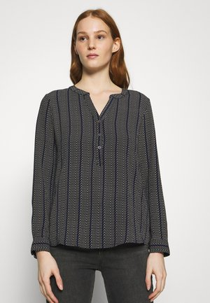 JDYTRACK PLACKET - Blouse - black/surf the web/cloud dancer