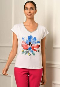 Alba Moda - Print T-shirt - weiß rot blau gelb - 5