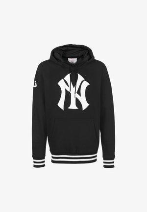 MLB BOLD LOGO NEW YORK YANKEES - Felpa con cappuccio - black