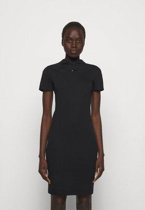 TUBE DRESS - Žerzejové šaty - black