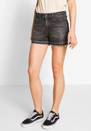 HIGH BOYFRIEND - Denim shorts - black stone