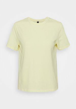YASSARITA O-NECK TEE - T-shirt basic - french vanilla