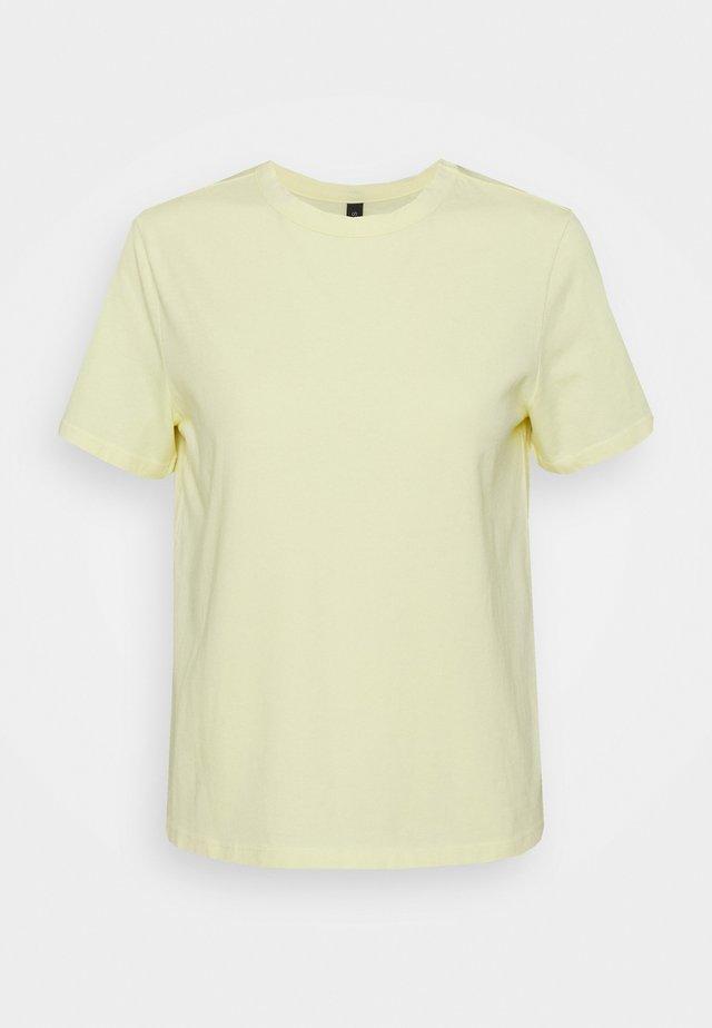 YASSARITA O-NECK TEE - Jednoduché triko - french vanilla