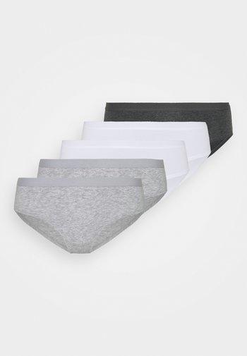 5 PACK - Underbukse - grey/white