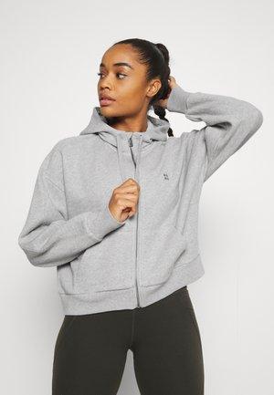 ESSENTIALS ZIP THROUGH HOODY  - Sweatshirt - mid grey marl